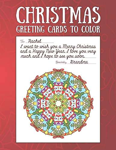 Christmas Greeting Cards to Color Christmas Coloring Book