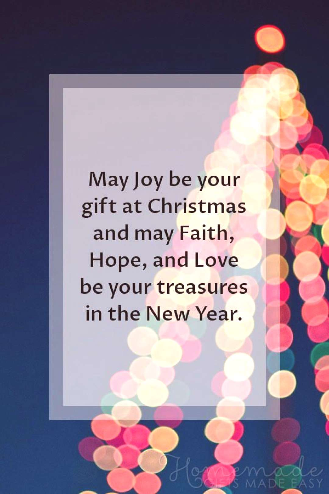 Christmas Greetings | May Joy be your gift at Christmas and may Faith, Hope, and Love be your treas