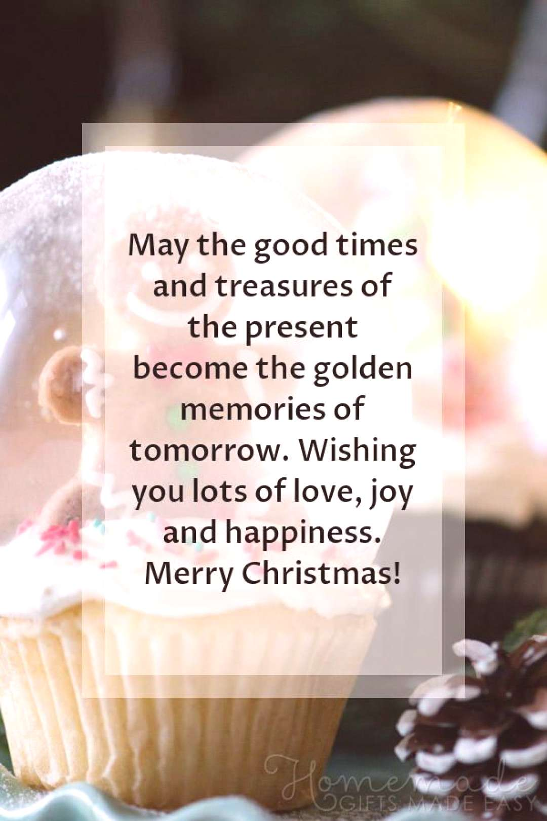 Christmas Greetings | May the good times and treasures of the present become the golden memories of