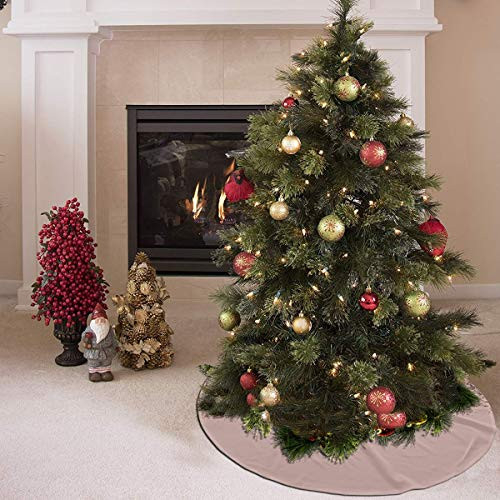 Christmas Tree Skirt - 36 inches,Blush Pink Rose Gold