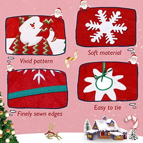 Christmas Tree Skirt, Merry Christmas Decorations Red Small