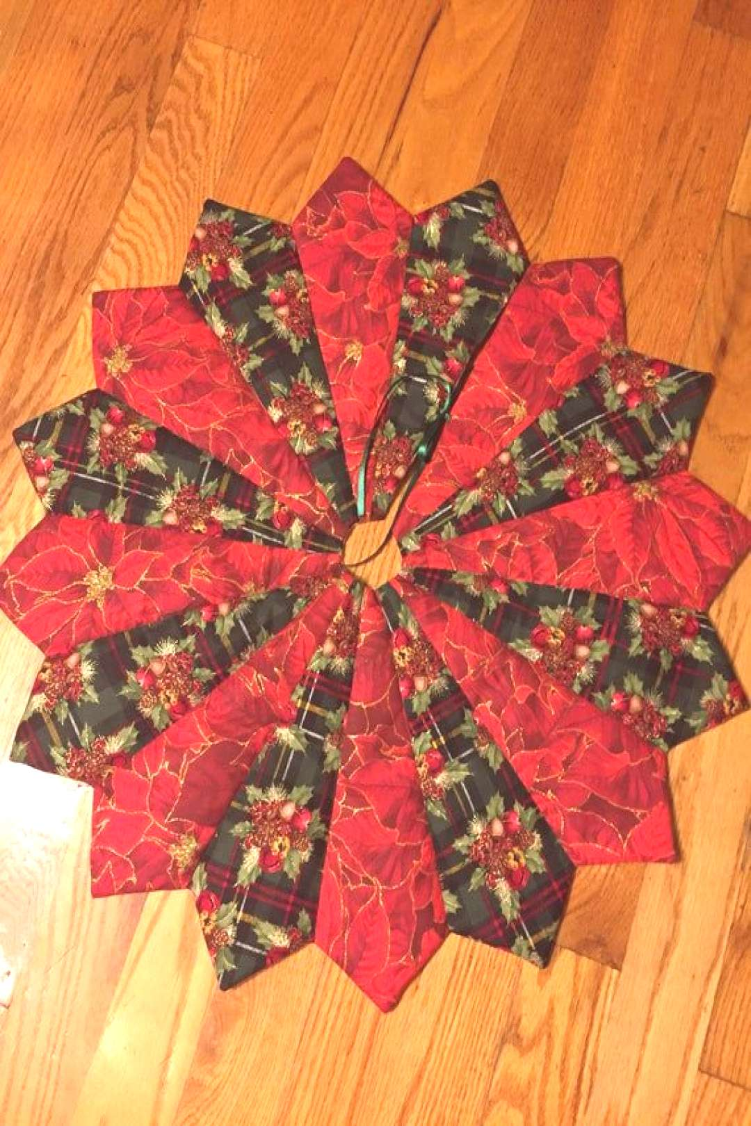 Christmas tree skirt table top or full size mini holly | Etsy