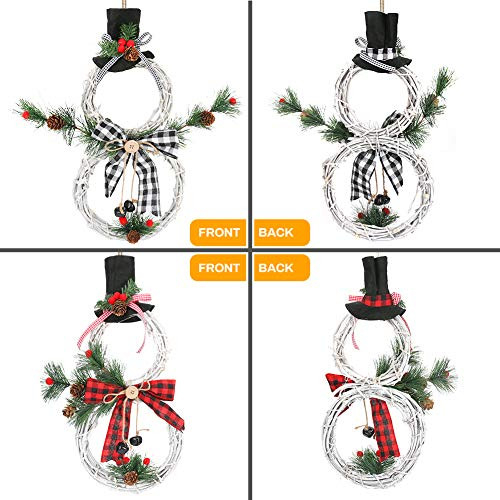 Christmas Wreath, 2 Pack BicycleStore LED Light Front Door