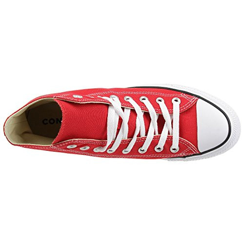 Chuck Taylor All Star Canvas High Top, Red, 9