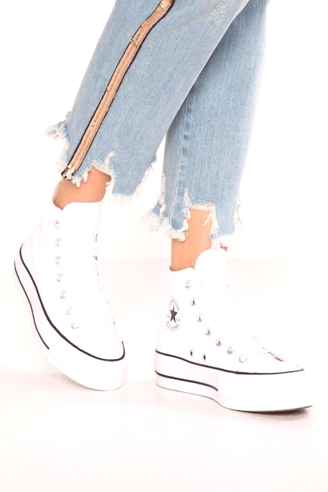 Converse CHUCK TAYLOR ALL STAR LIFT - Sneakers hoog - white/black -