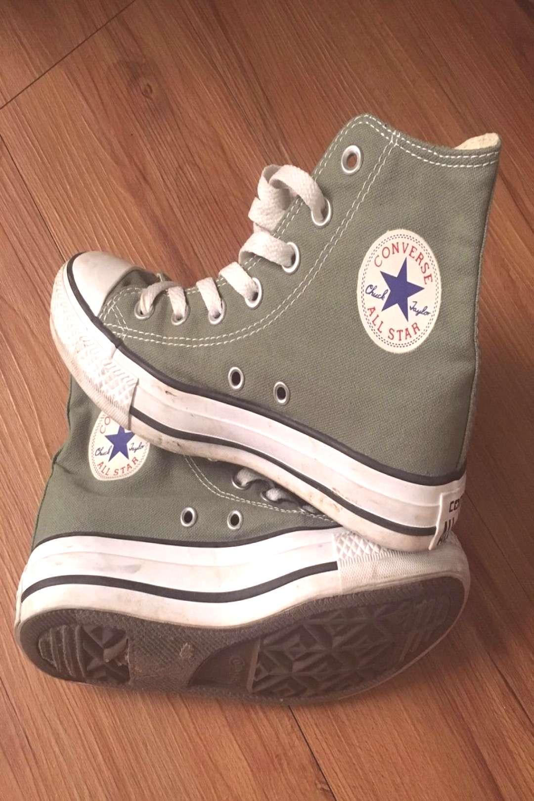 Converse Shoes | Chuck Taylor High Top | Color: Green | Size: 6