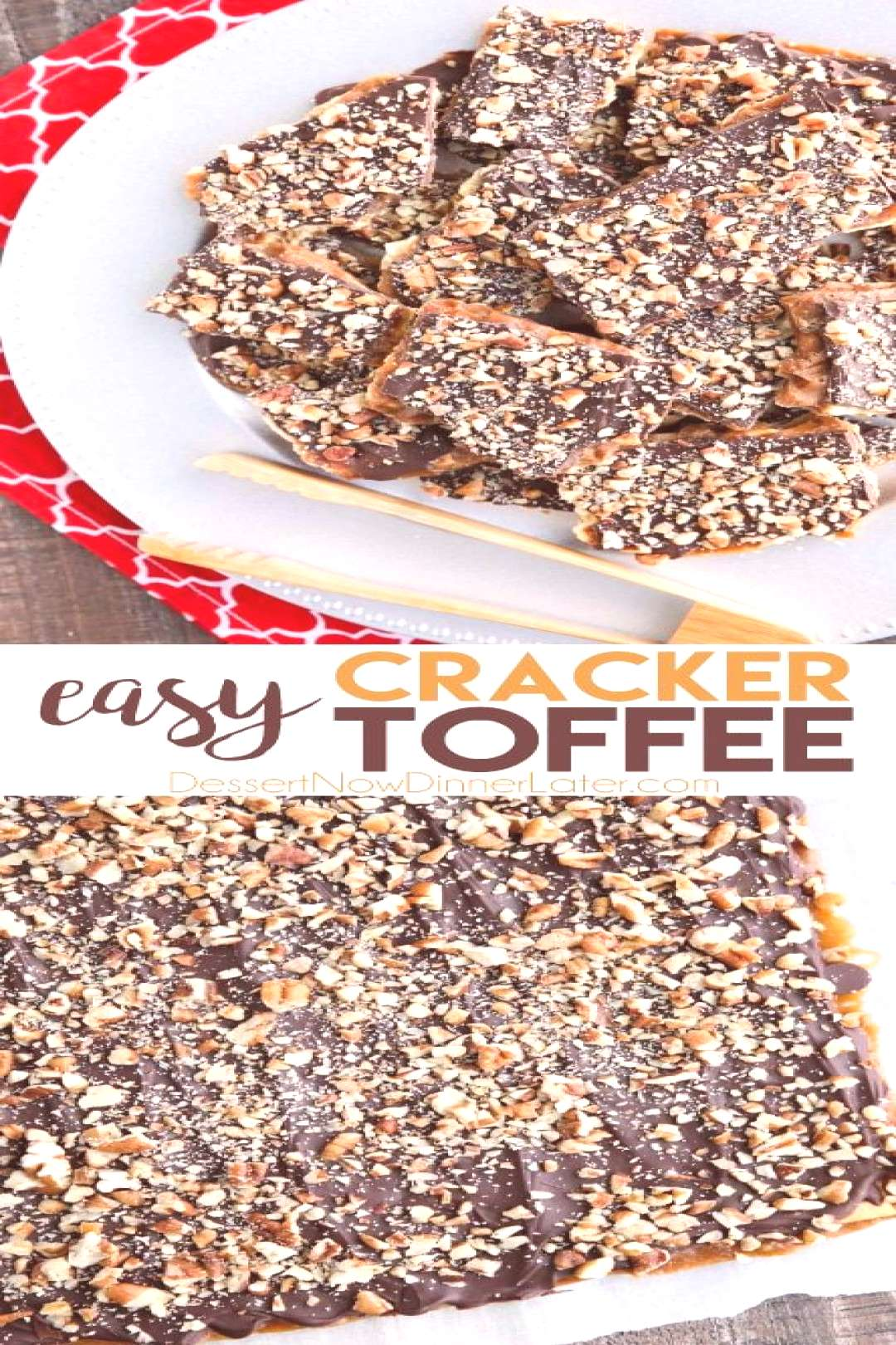 Cracker Toffee (aka Christmas Crack) is so easy to make and highly addictive! Saltine crackers are