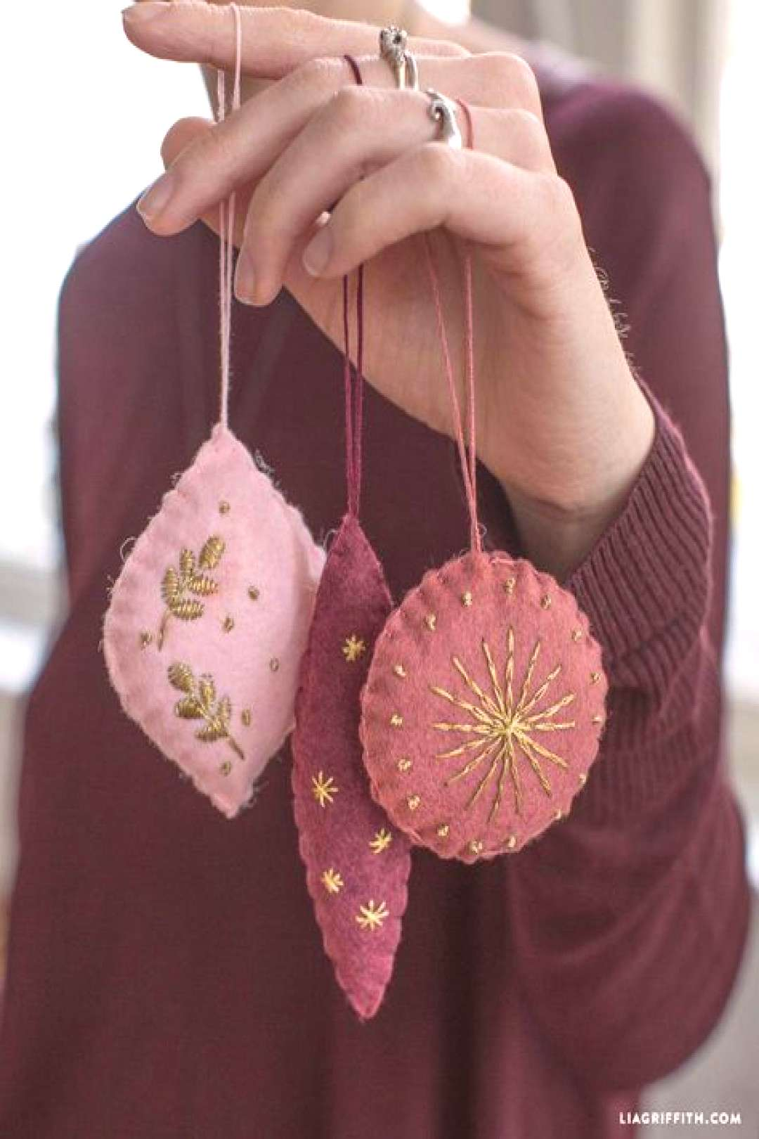 Embroidery christmas gifts felt ornaments 27 Ideas
