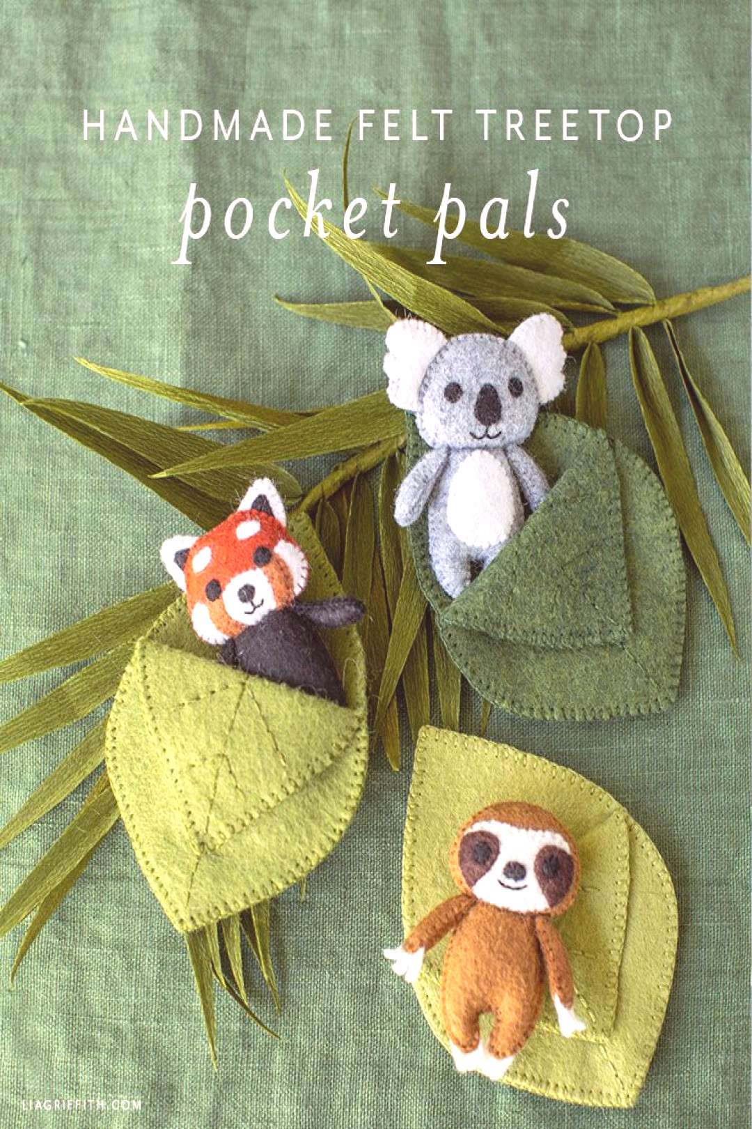 Felt Treetop Animal Pocket Pals DIY Tutorial - Lia Griffith