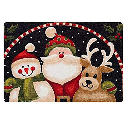 FKELYI Merry Christmas Welcome Outdoor Super Absorbs Mud