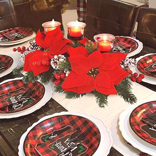 FORUP Christmas Centerpiece, Christmas Candle Holders,