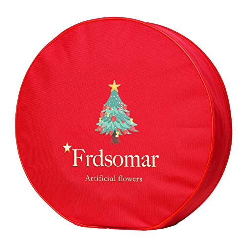 Frdsomar Large Berry Christmas Wreath with Storage Container