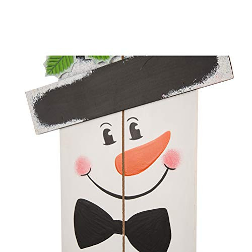 Glitzhome 42quotH Wooden Welcome Sign Snowman Vertical Porch