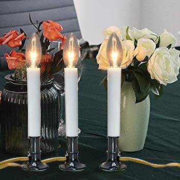 Goothy Electric Window Candles Lights with Nickel Plated