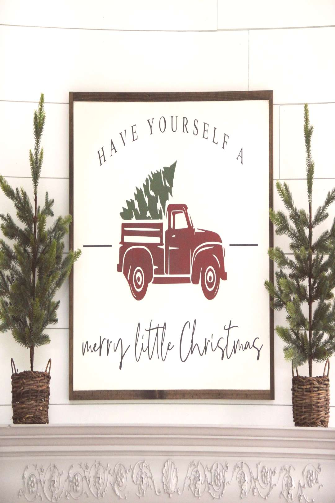 quotHave yourself a merry little Christmasquot! Fun, fresh, and festive! This sign is available in two si