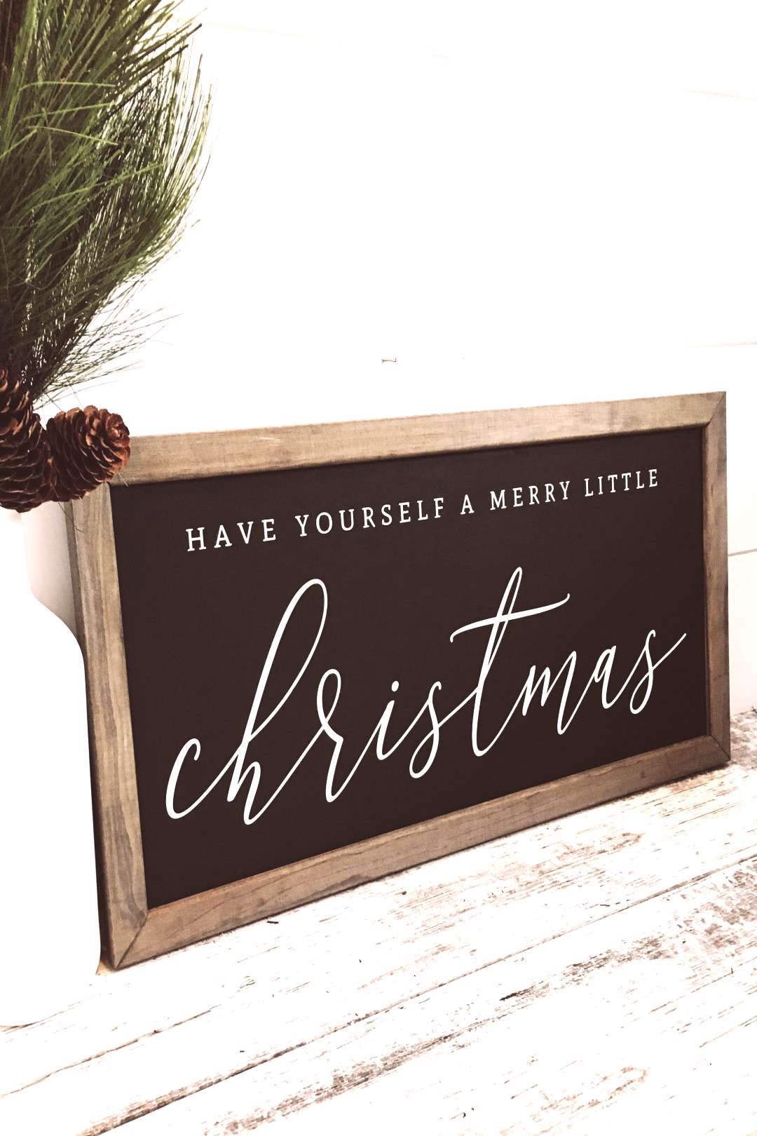 Have Yourself a Merry Little Christmas, Merry Christmas Sign, Wood Christmas Signs, Farmhouse Holid