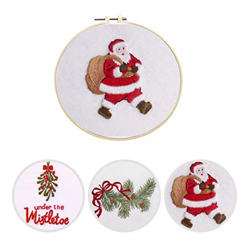 HEALLILY Embroidery Christmas Patterns Kit for Christmas