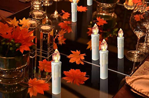 Houdlee LED Flameless Taper Candles with Remote Control and