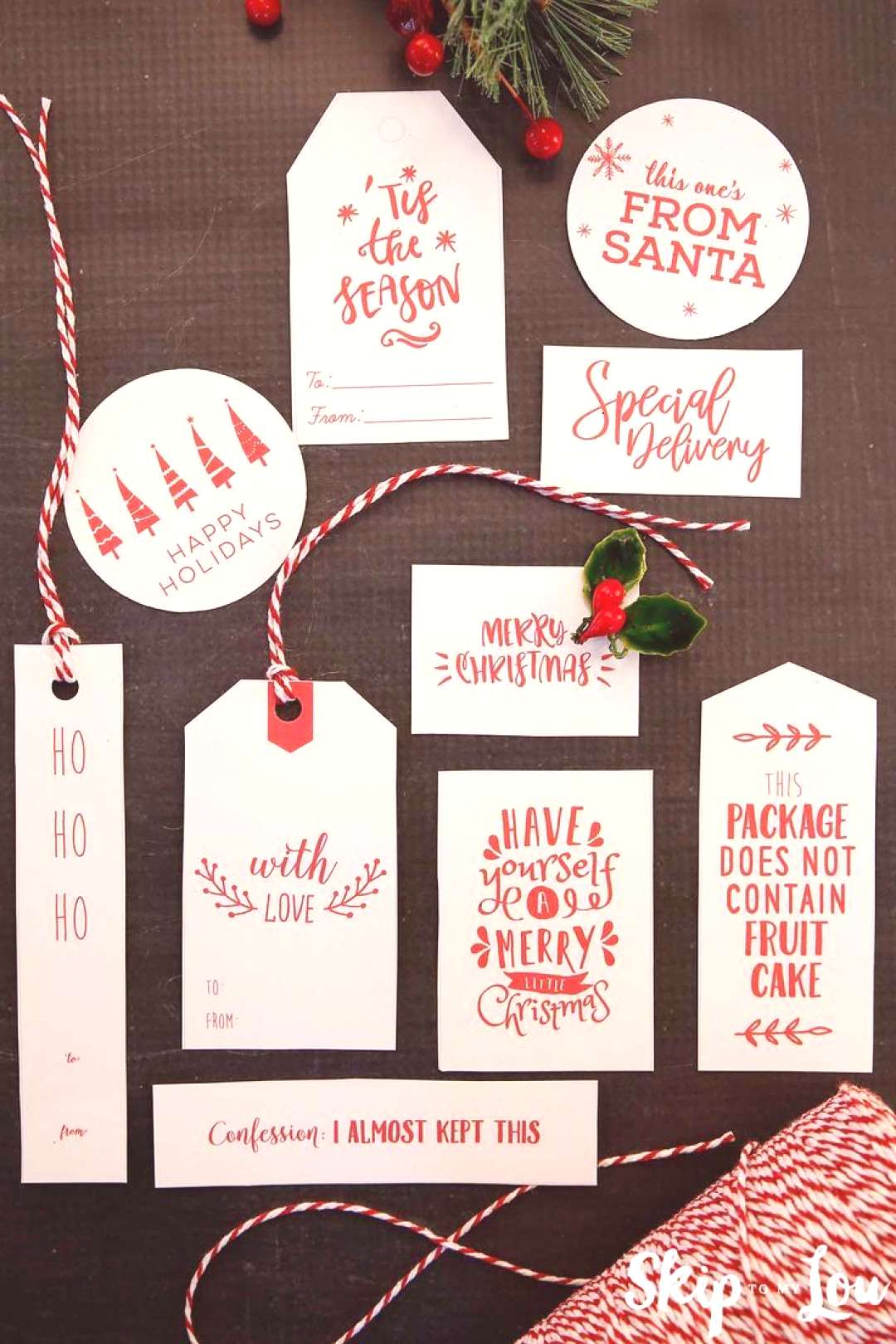 I think these are my favorite Christmas tags yet…. and you know I have shared tons of gift tags.