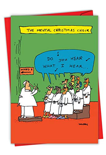 Insane Choir - Funny Merry Christmas Card with Envelope