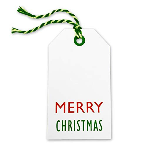 Kraft Tags for Gift Wrapping and Labeling (Xmas on White