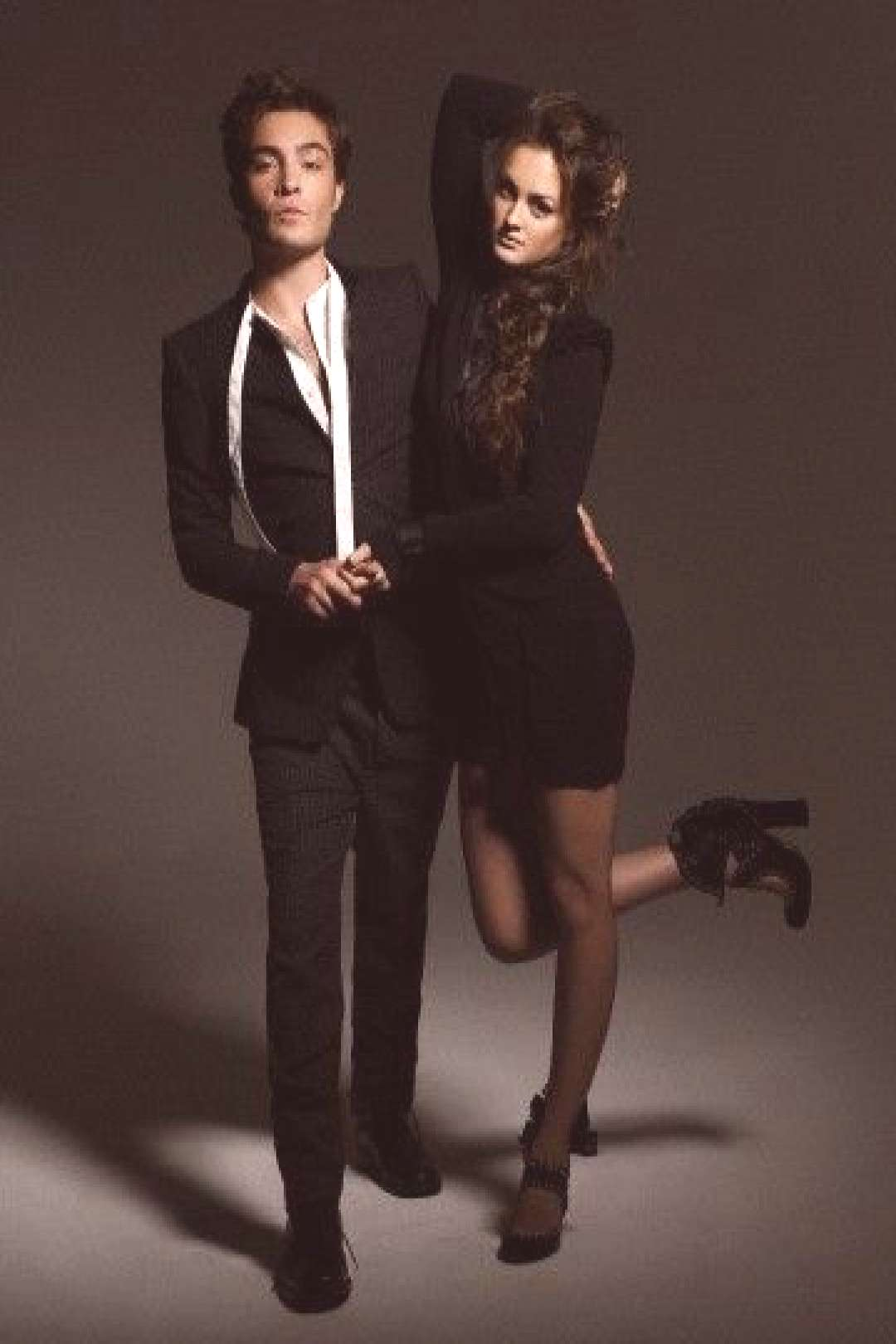 Leighton Meester and Ed Westwick in a photo shoot for