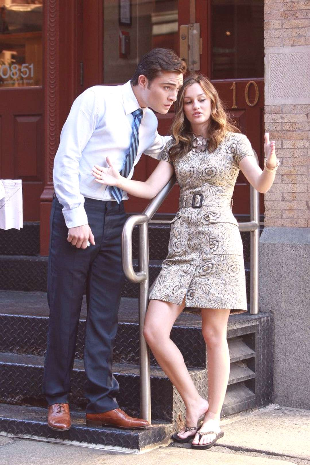 Leighton Meester Ed Westwick Photos: Leighton Meester and Ed Westwick film a scene in Soho