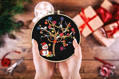 Louise Maelys Christmas Embroidery Kit for Beginners Winter