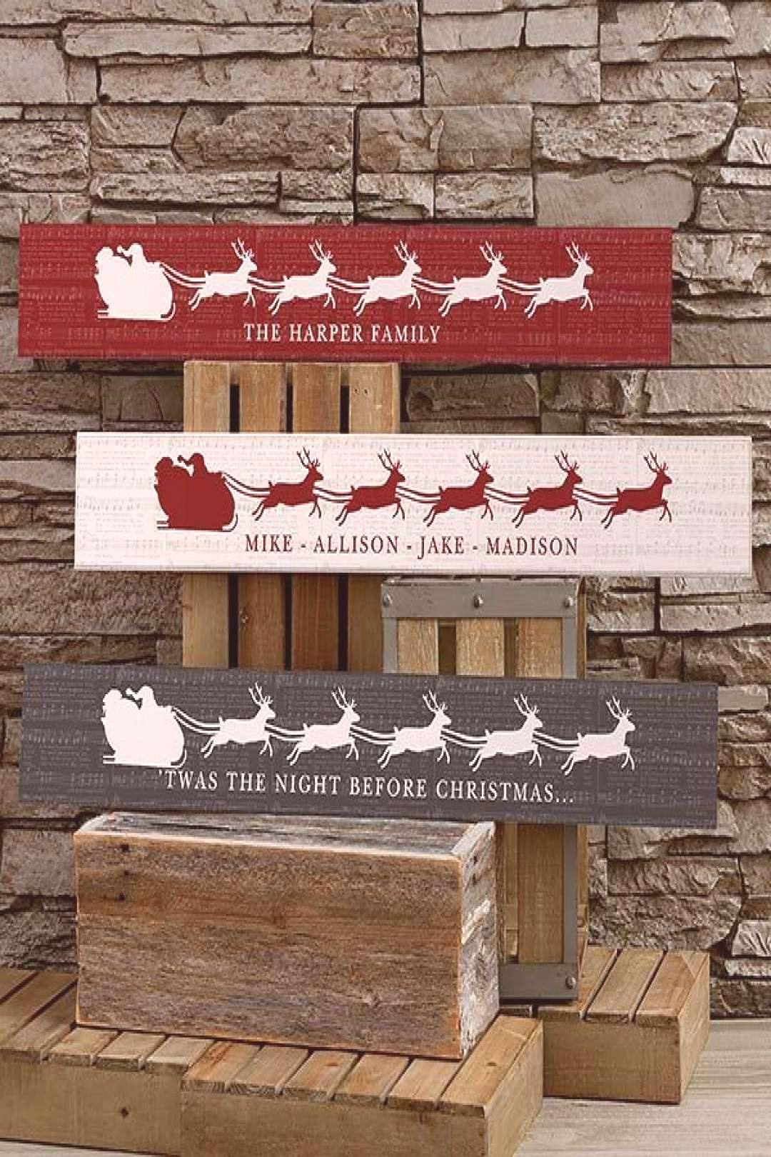 Nostalgic Noel Personalized Wooden Sign - Christmas Gifts - Christmas Gifts