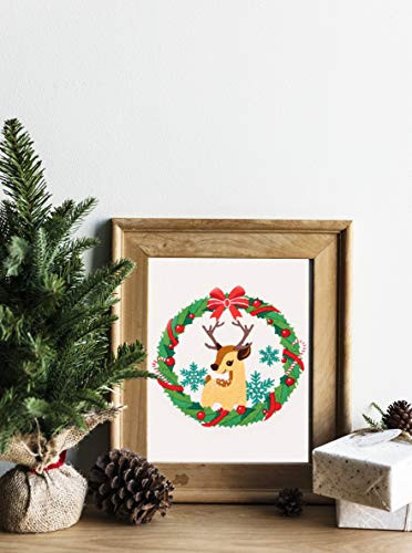 Nuberlic Christmas Embroidery Kit Cross Stitch Kits for