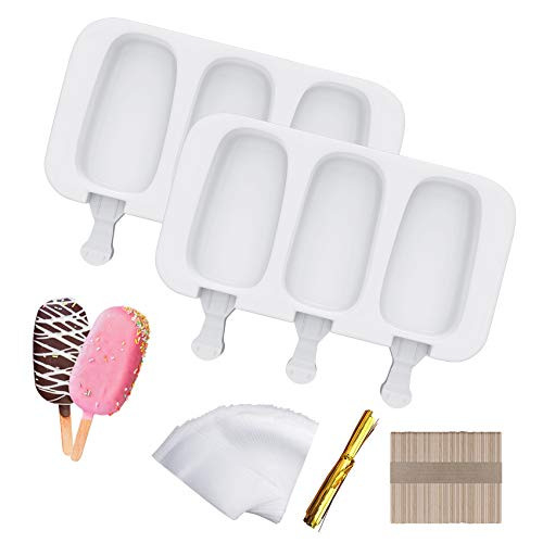 Ouddy Popsicle Molds Set of 2, Silicone Ice Pop Molds 3