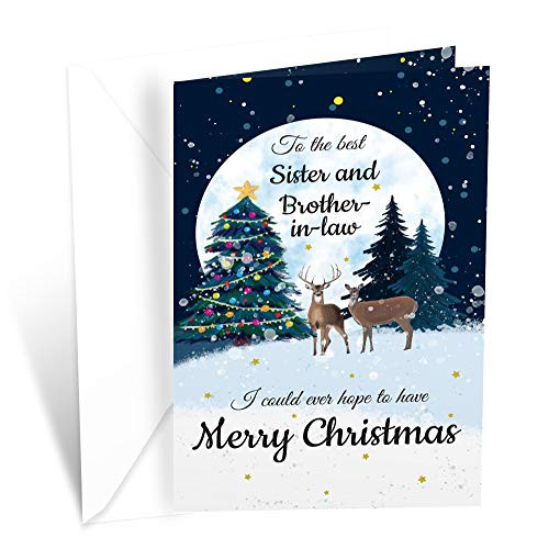 Prime Greetings Christmas Card Sister and Brother In Law