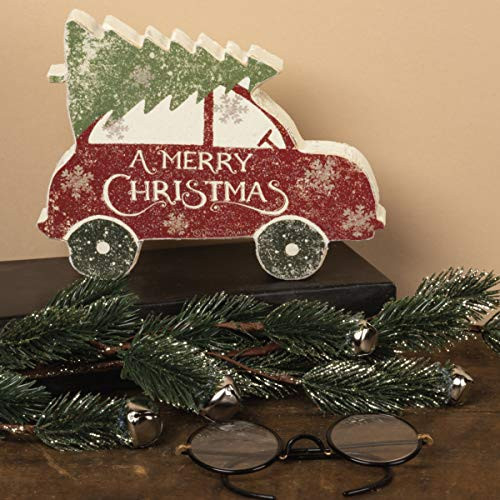 Primitives by Kathy Rustic Car with Tree Chunky Sitter