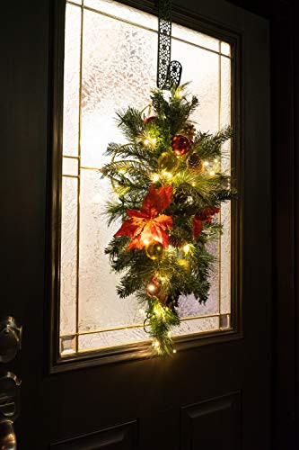 Red Co. 30quot x 14quot Light-Up Christmas Centerpiece with