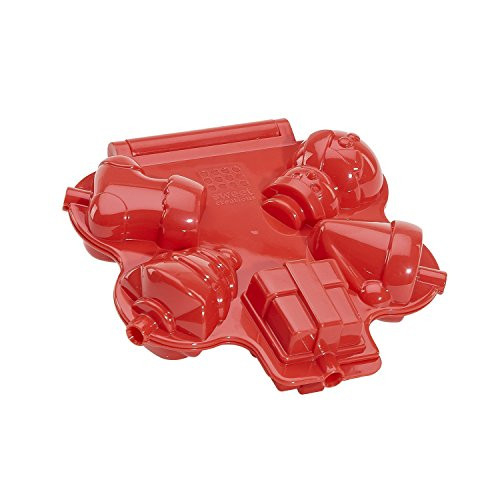 Sweet Creations Christmas Cake Pop Press Mold, Red