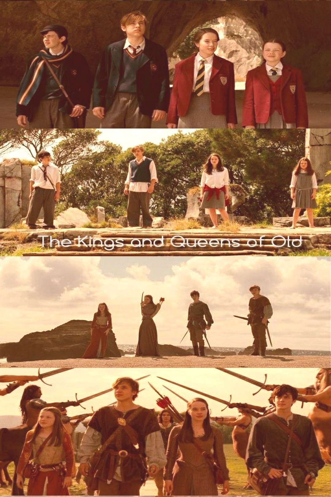 The Pevensie || Lucy, Susan, Edmund and Peter Pevensie || The Kings and Queens of Old || The Kings