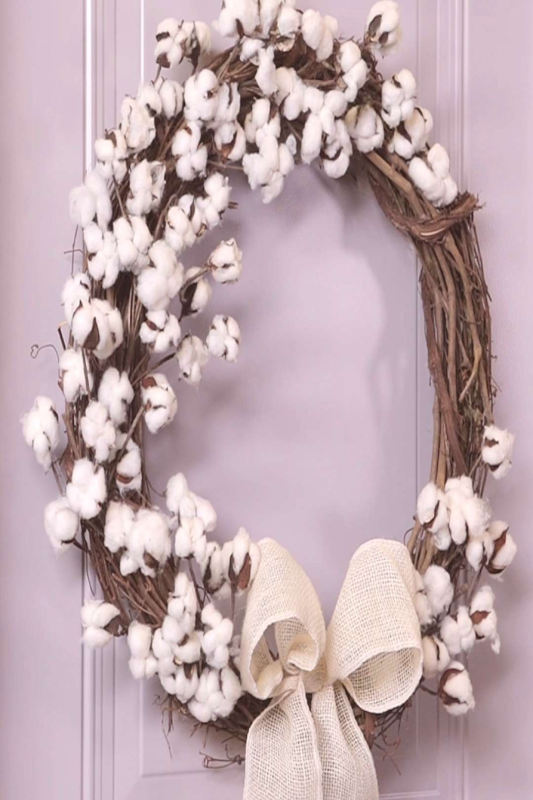 This DIY Cotton Wreath is Perfect for Your Spring Front Door Spring decorating is all about embraci