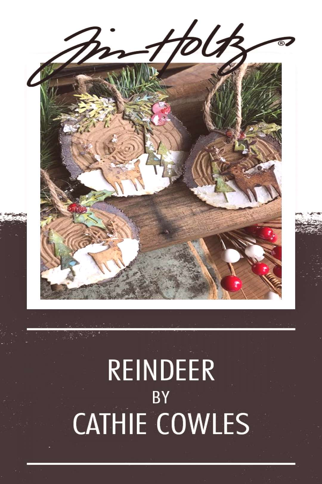 Tim Holtz Christmas Reindeer Tags! We love these Tim Holtz tags deerly! ?? Crafted by Stacy H
