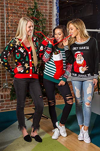 Tipsy Elves Cute Holiday Cookie Cutter Cardigan for Women -