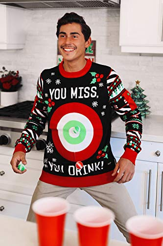Tipsy Elves Mens Drinking Game Christmas Sweaters Size