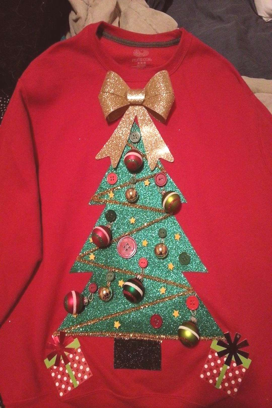 Unique Diy Christmas Tree Sweater On A Budget