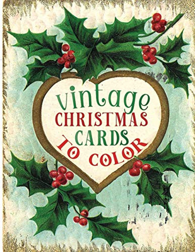 vintage christmas cards to color A Vintage Grayscale