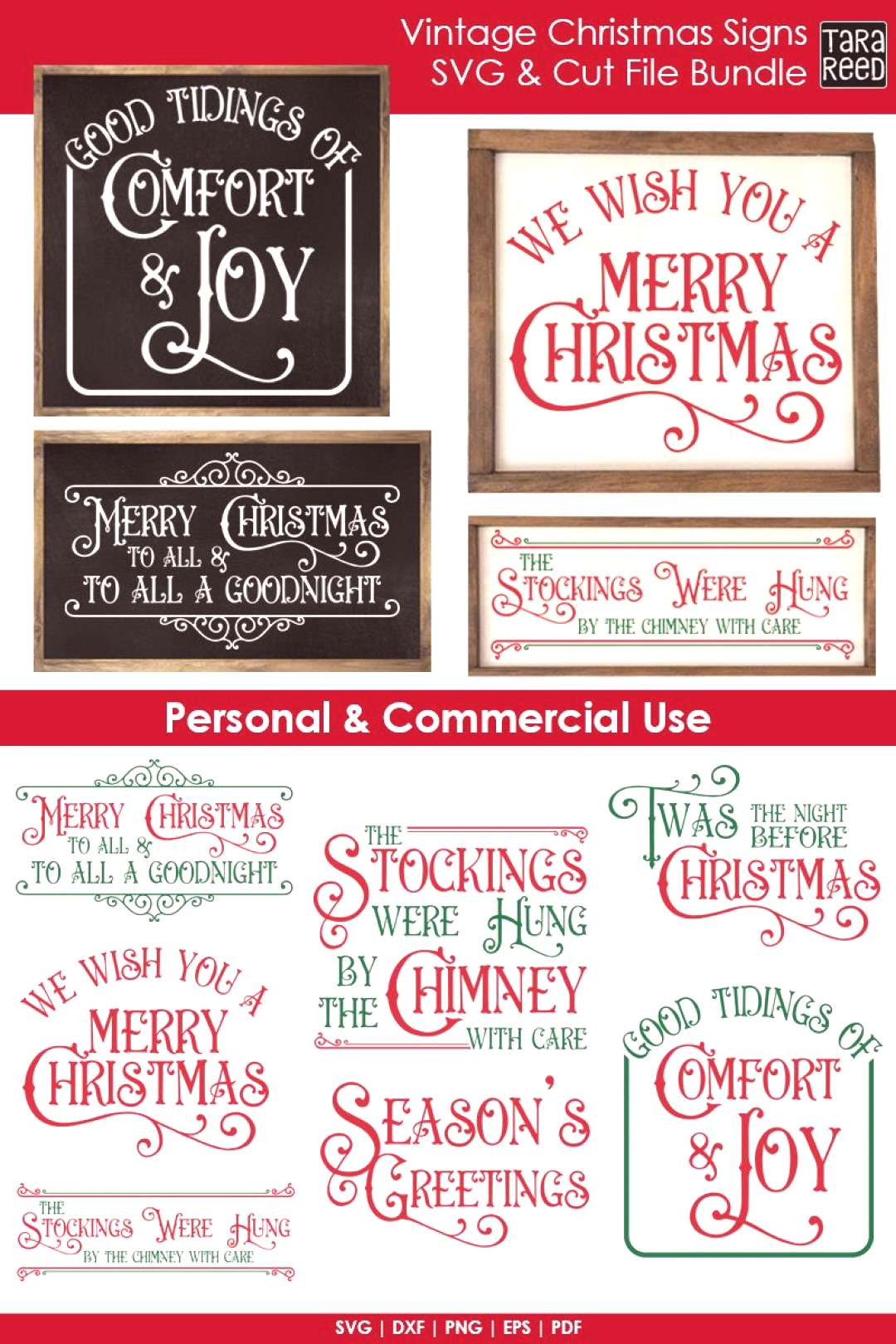 Vintage Christmas Signs - Christmas SVG and Cut Files for Crafters