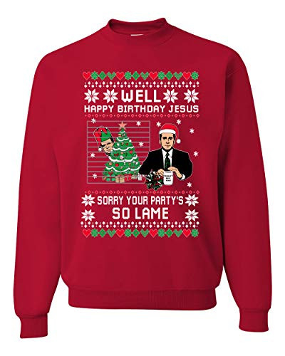 Well Happy Birthday Jesus Funny Quote Office Ugly Christmas