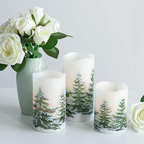 Wondise Flickering Flameless Candles with 6 Hour Timer,