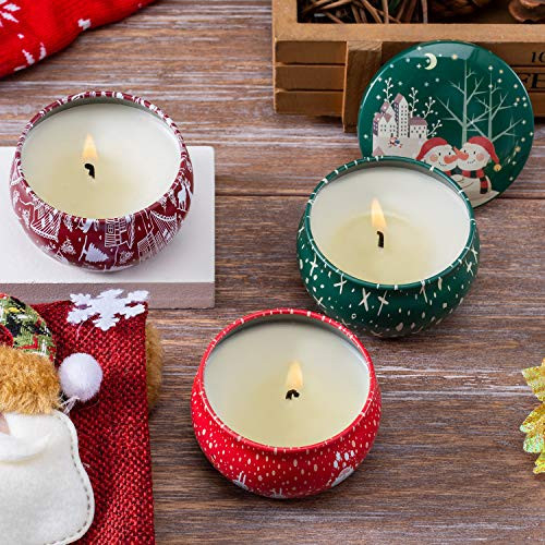 YYCH Christmas Scented Candles Gift Sets, Natural Soy Wax